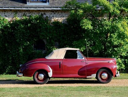 1953 - Peugeot 203 Cabriolet French registration title Chassis: 1333916 In the same...