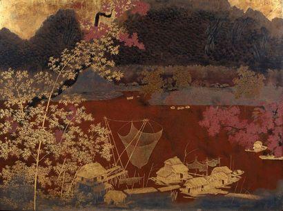 ÉCOLE DES BEAUX-ARTS D'INDOCHINE, VERS 1925-1935 ATTRIBUÉ À LE QUOC LOC (1918-1927)