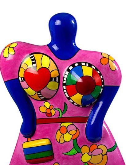 Niki de SAINT PHALLE (1930-2001) Lady with handbag vase , 2000 Résine polyester peinte,...