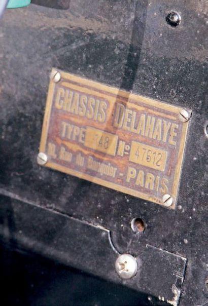 1936 Delahaye 148L « VUTOTAL » LABOURDETTE Delahaye unique Historique limpide Depuis...