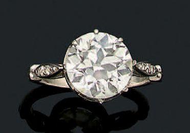 BAGUE «DIAMANT» Diamant taille ancienne,...