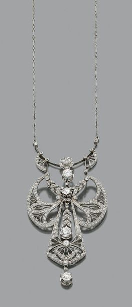 COLLIER «GUIRLANDE» Diamants, or gris 18K...