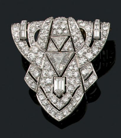 CLIP DE REVERS «DIAMANTS» Diamants triangles,...