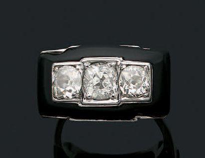 BAGUE «DIAMANTS» Diamants taille ancienne,...