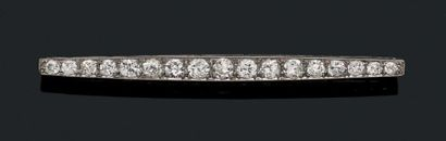 BROCHE BARRETTE «DIAMANTS» Diamants taille...