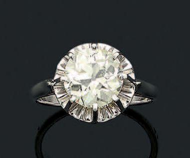 BAGUE «DIAMANT» Diamant de taille ancienne,...