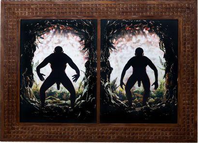 PIERRE & GILLES (XX-XXI) Homo erectus , autoportrait, 2004/2005 Tirage couleur, photographie...