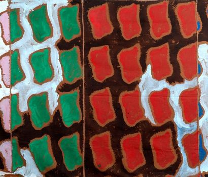 Claude Viallat (né en 1936) 1992/80, 1992 Acrylique sur toile de tente avec rivets...