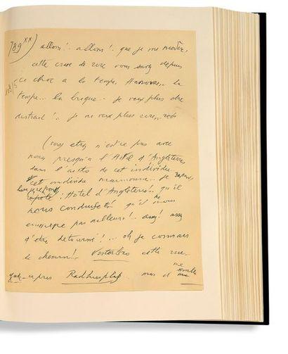 CELINE LOUIS-FERDINAND (1894-1961) Rigodon, manuscrit autographe [Janvier 1960 -...