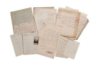 + POLITIQUE ET DIVERS 54 lettres ou pièces, la plupart L.A.S. ou L.S. François Allain-Targé,...