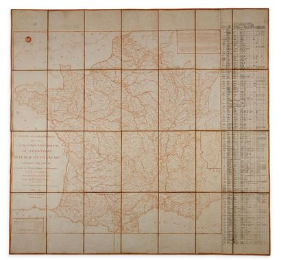 MAP Geographical chart of inland navigation...