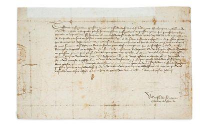 [CHARLES VII (1403-1461) Roi de France] BADEN Charles Ier marquis de (1425-1475), margrave de Baden (1454-1475)