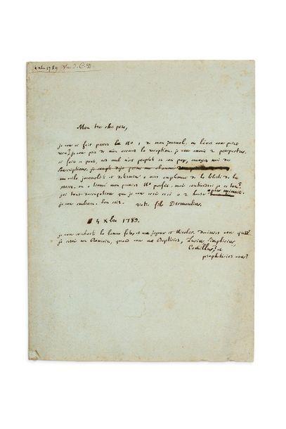 DESMOULINS Camille (1760-1794) journaliste et orateur révolutionnaire, conventionnel (Paris), ardent