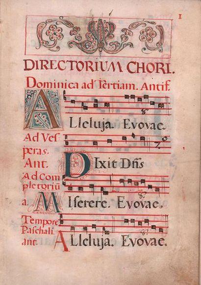 ANTIPHONARY MANUSCRIT MUSICAL, Directorium...