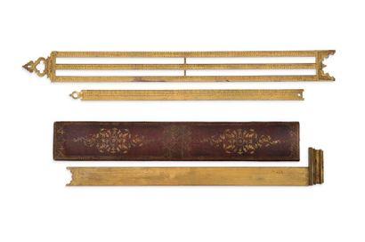 Remarquable suite de trois instruments de...