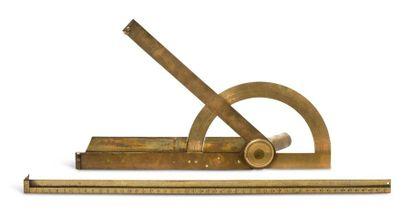 Suite de deux instruments Une partie de graphomètre...