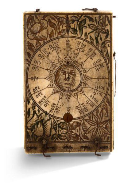 ~Rare cadran solaire diptyque rectangulaire...