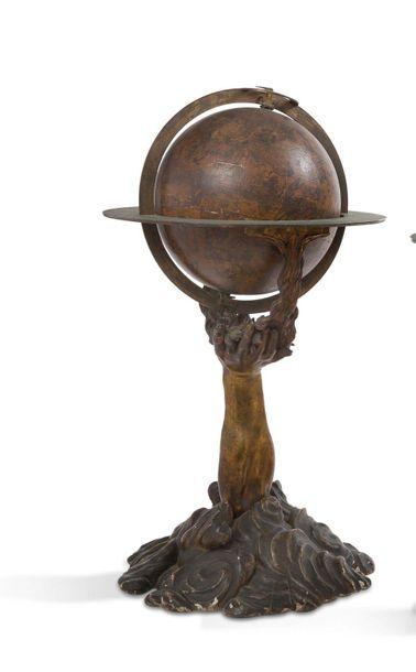 Paire de deux globes, terrestre et céleste...