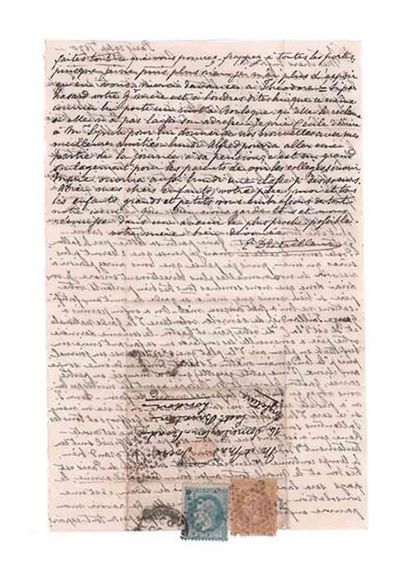 GRANDE-BRETAGNE - 29 SEPTEMBRE 1870 10c lauré (déf.) et 20c lauré obl. PARIS R....