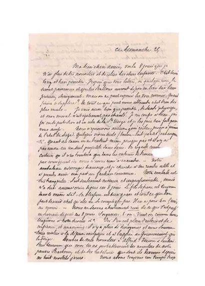 1ER OCTOBRE 1870 20c lauré obl. càd TOURS sur Lm datée dimanche 25 pour le GERS....