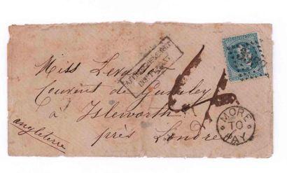 GREAT BRITAIN - 3 OCTOBER 1870 20c lauré...
