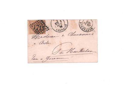 5 OCTOBER 1870 10c laureate obl. GC 1715...