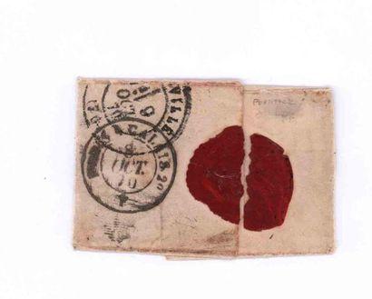 8 OCTOBRE 1870 20c lauré obl. losange ambulant càd ambulant CALAIS à PARIS 2e, sur...