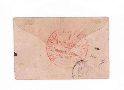 8 OCTOBRE 1870 20c lauré obl. GC 2161 càd MAGNY-EN-VEXIN 8 OCT. 70 sur enveloppe...