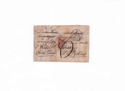 GRANDE-BRETAGNE- 11 OCTOBRE 1870 20c lauré obl. étoile pleine càd PARIS (60) sur...