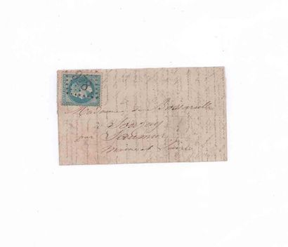 12 OCTOBER 1870 20c laureate obl. GC 978...