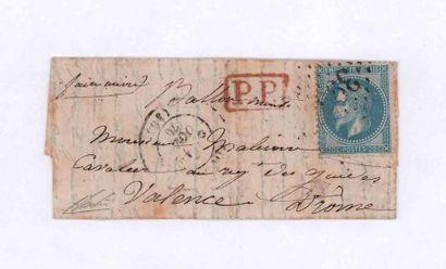 18 OCTOBER 1870 20c laureate obl. GC 3997...