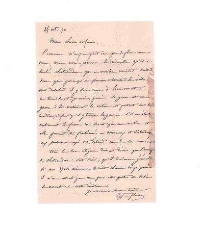 25 OCTOBRE 1870 10c lauré deux exemplaires obl. étoile 35 PARIS Ministère des Finances...