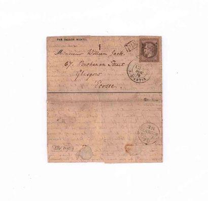 SCOTLAND - 2 NOVEMBER 1870 30 c prize-winner...
