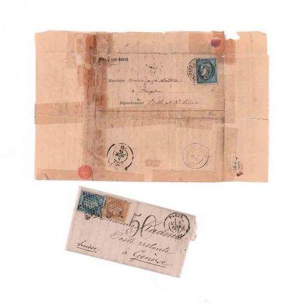 3 NOVEMBRE 1870 20c Siège obl. Càd Paris R. Cardinal-Lemoine sur Lettre-Journal...