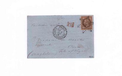 GREAT BRITAIN- NOVEMBER 5, 1870 30c prize-winner...