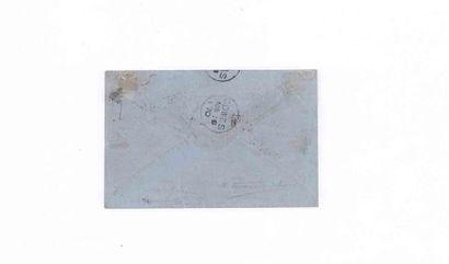 GRANDE BRETAGNE- 5 NOVEMBRE 1870 30c lauré obl. étoile 34 PARIS Avenue JOSÉPHINE...