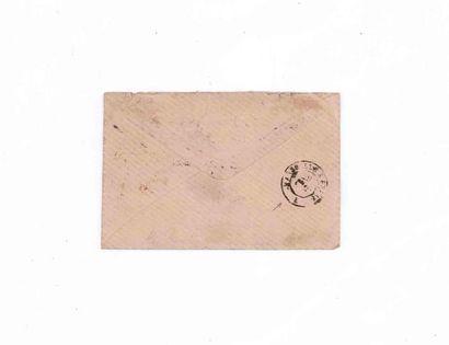 ALLEMAGNE - 9 NOVEMBRE 1870 20c Siège en paire obl. étoile 1 PARIS Pl de la Bourse...