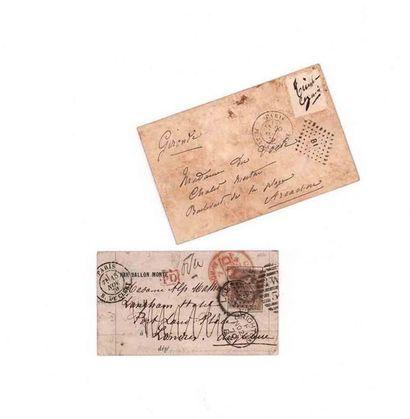 GRANDE BRETAGNE - 15 NOVEMBRE 1870 30c lauré obl. étoile 24 Paris R. de Cléry sur...