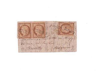 BELGIUM - 15 NOVEMBER 1870 10c Seat one copy...