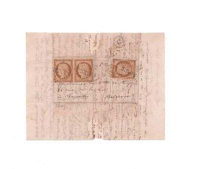 BELGIQUE - 15 NOVEMBRE 1870 10c Siège un exemplaire et une paire obl. losange A.R....