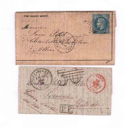18 NOVEMBER 1870 20c prize-winning put on...