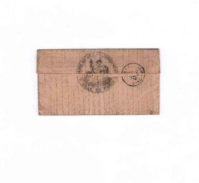 19 NOVEMBRE 1870 20c Siège obl. étoile 35 PARIS Ministère des Finances. Au recto...