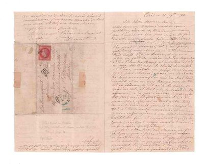 RUSSIE - 20 NOVEMBRE 1870 80c lauré (infime défaut) obl. étoile 2 PARIS R. St. Lazare...