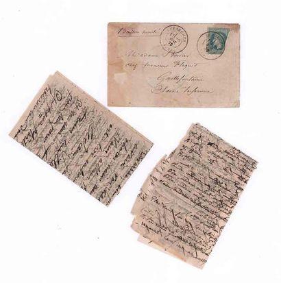 20 NOVEMBER 1870 20c prizewinner (def) obl....