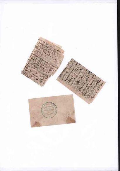 20 NOVEMBRE 1870 20c lauré (déf) obl. Càd LUZARCHES 20 NOV 70 répété au recto sur...
