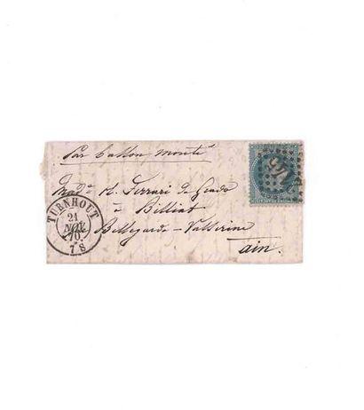 21 NOVEMBER 1870 20c laureate obl. GC 2145...