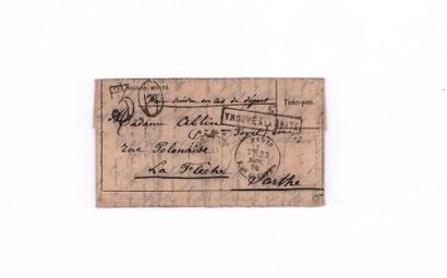 23 NOVEMBER 1870 Stamp fallen by immersion...