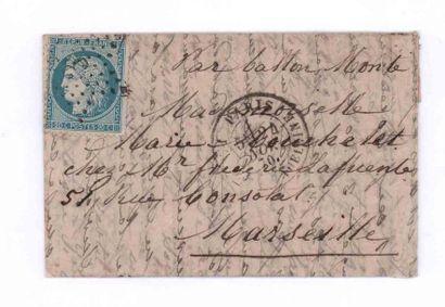 24 NOVEMBER 1870 20c Siège obl. étoile 3...