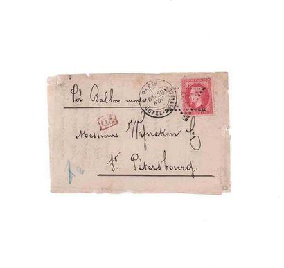 RUSSIE - 29 NOVEMBRE 1870 80c lauré obl....
