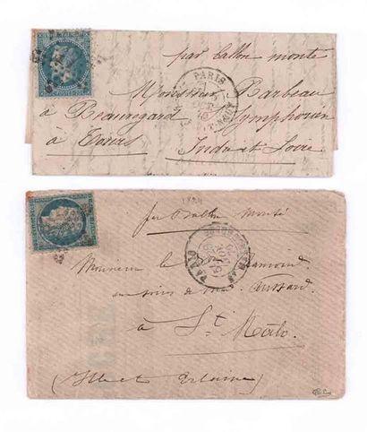 29 NOVEMBRE 1870 20c Siège obl. étoile 37...
